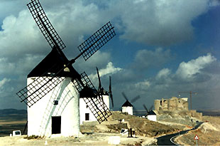 Wind mills in La Mancha