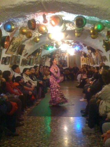 Flamenco dancing at the caves in Granada