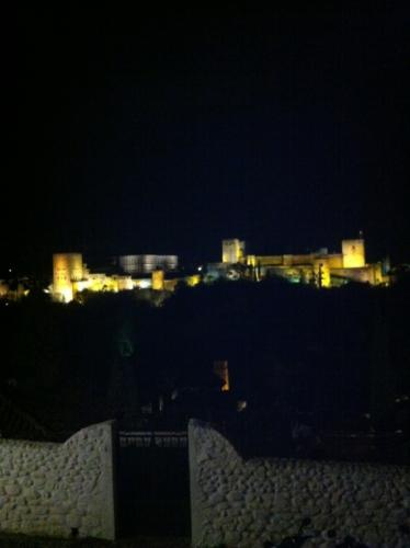 Alhambra in Granada at night